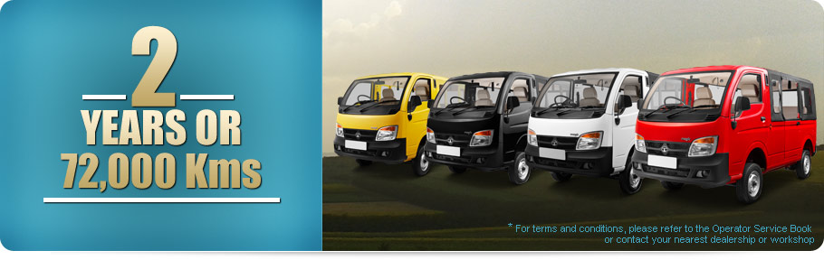 Tata Magic Vehicle Care 2 Years Or 72 000 Kms Warranty
